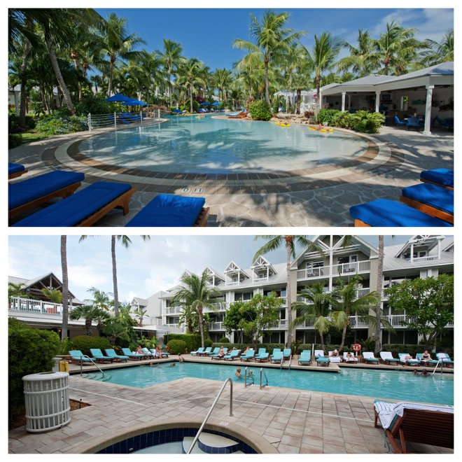 Top: Sunset Key Guest Cottages, a Westin Resort; Bottom: The Westin Key West Resort & Marina