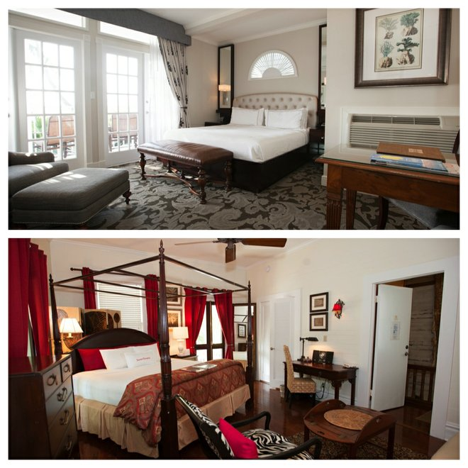 Top: La Mer Hotel and Dewey House; Bottom: The Mermaid & The Alligator