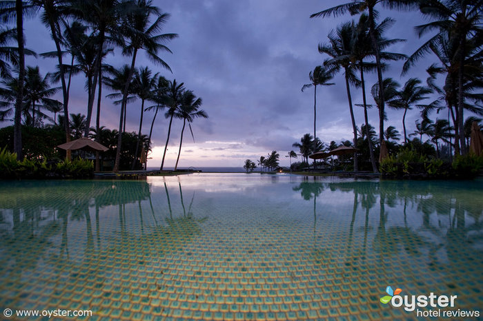 The infinity pool overlooking Hana Bay is one of Hotel Hana-Maui's most stunning features.
