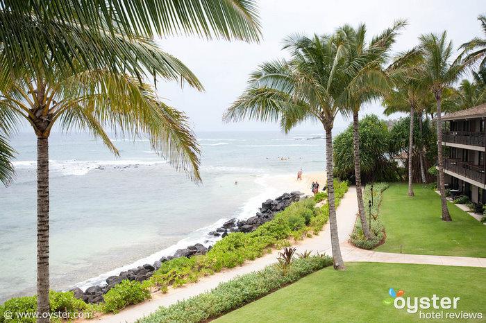 Koa Kea sits on Kiahuna Beach, one of the most family-friendly beaches in Poipu.