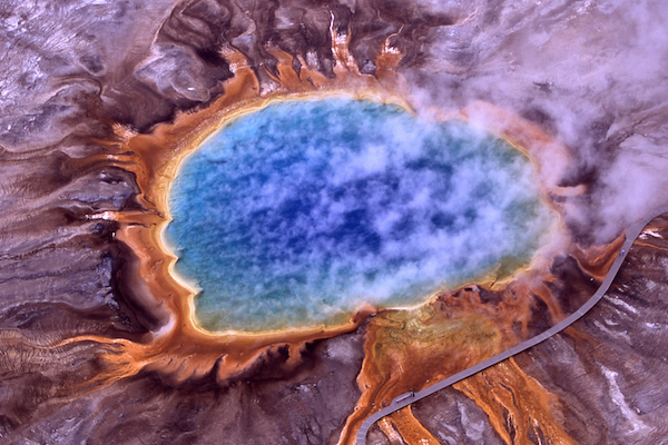 Aerial view of Grand Prismatic Spring (Photo courtesyJim Trodel)