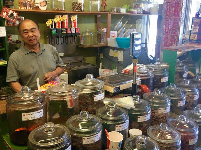 Kon Ping Young, owner of The Crack Seed Store in Kaimuki; Credit: Nalea J. Ko