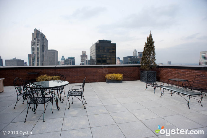 The terrace of a Triplex Suite at The New York Palace