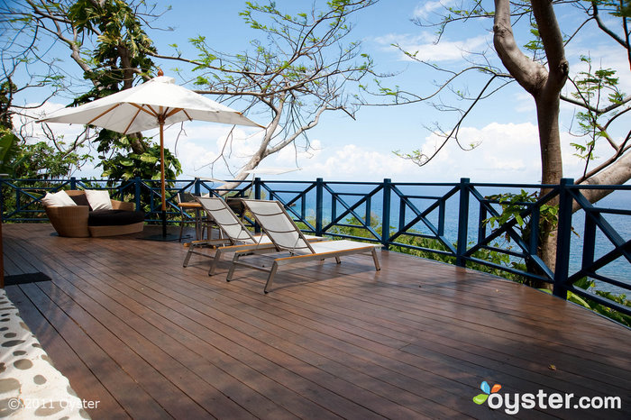 Balcony at The Drum and Bass Suite at the Geejam; Port Antonio, Jamaica