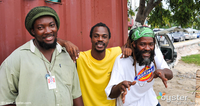 Some happy Jamaicans in Montego Bay