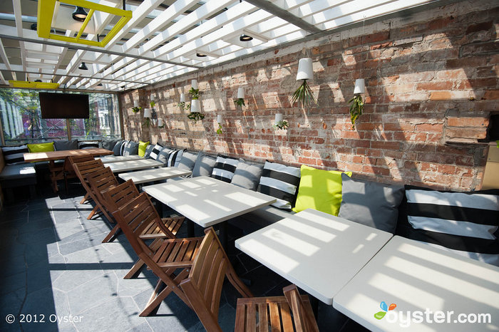 The rooftop lounge at The Drake Hotel is an ideal wedding venue for a rock & roll couple.