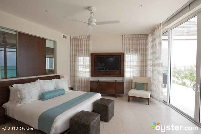 The minimalist design in the suite mirrors the hotel's sleek vibe.