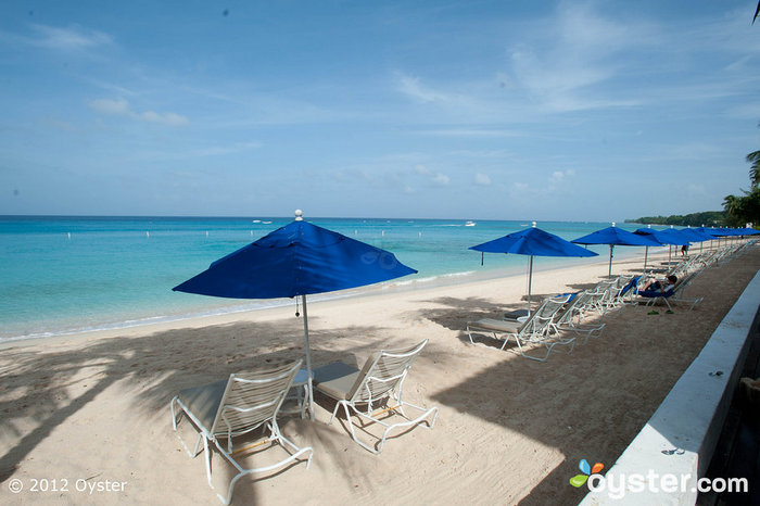 The beach's umbrellas seat two. Coincidence? We think not.