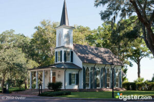 The Waterside Chapel at the Inn at Palmetto Bluff in Bluffton, South Carolina is a charming place to say