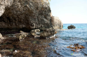 a.) The rugged caves of the West End Cliffs in Negril are great for snorkeling -- and for filming movies.
