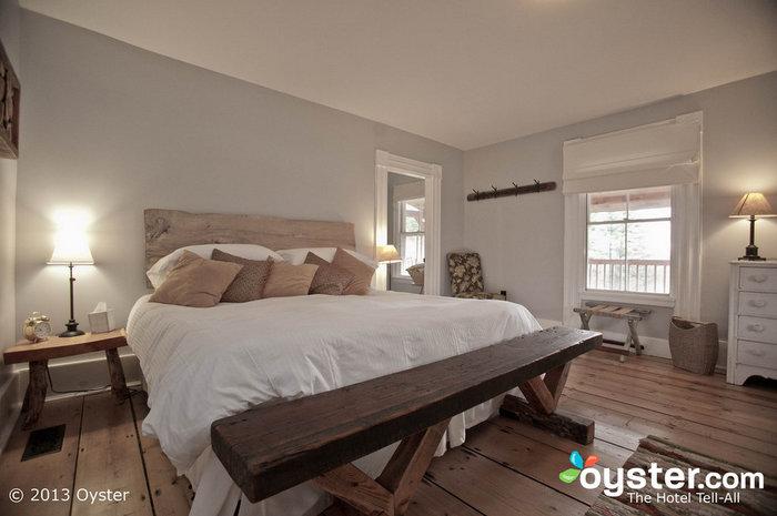 Os quartos são elegantes e confortáveis, com detalhes divertidos que toda noiva irá apreciar.