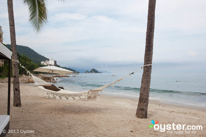 Beachside hammocks are perfect spots for relaxing mid-wedding planning.