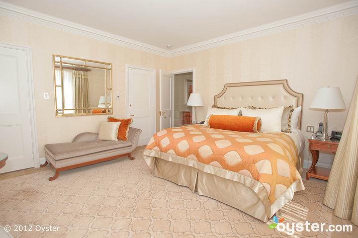 The Premier Suite, a popular honeymoon spot, exudes The Pierre's classic, stately vibe.