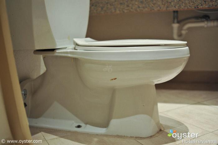 Poo auf der Toilette in unserem Zimmer im Holiday Inn Resort Montego Bay, Jamaika.