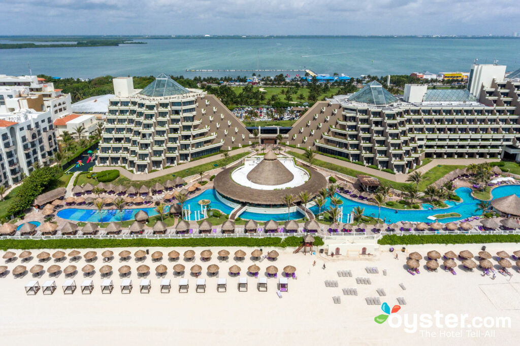 Aerial view of Paradisus Cancun