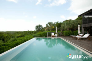 COMO Shambhala Spa Pool at the Parrot Cay and COMO Shambhala Retreat