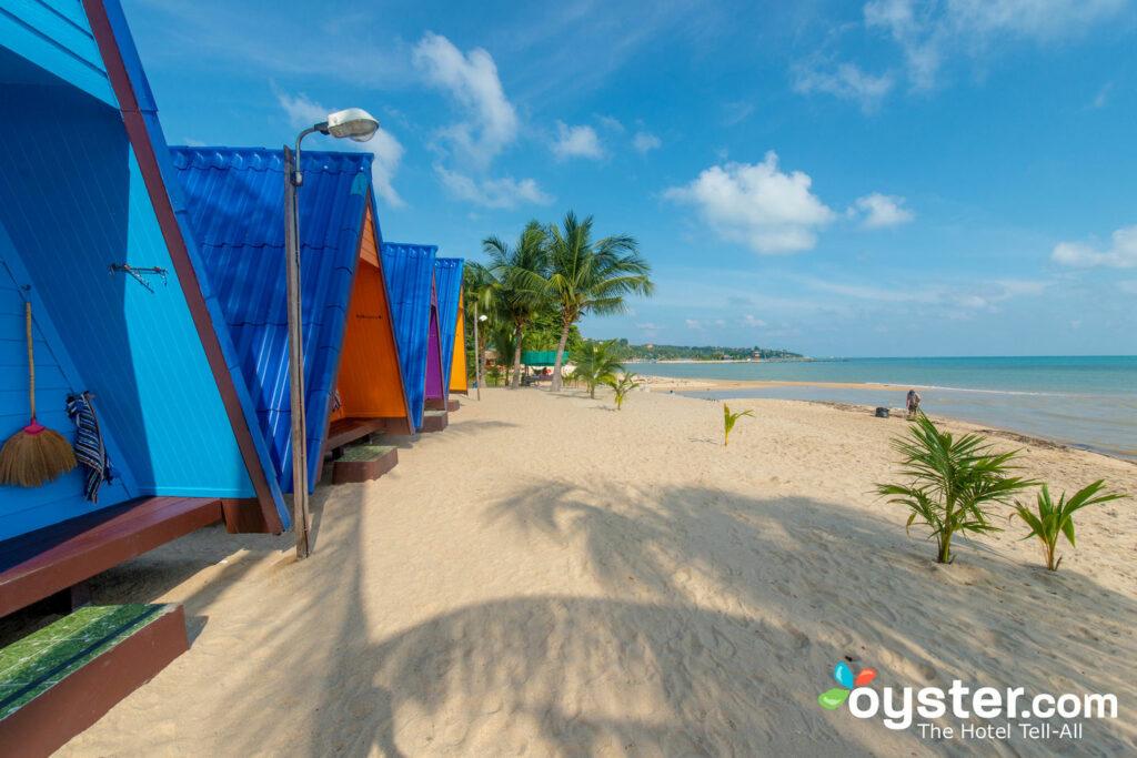 New Hut Bungalows along Lamai Beach in Koh Samui.