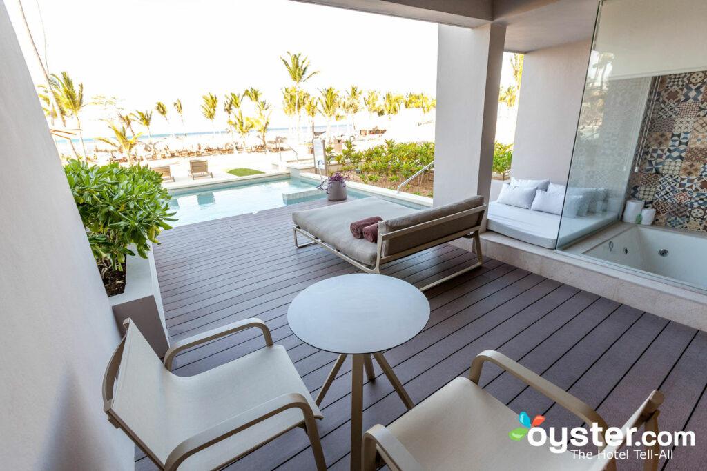 Beachfront Honeymoon Suite at Excellence El Carmen/Oyster