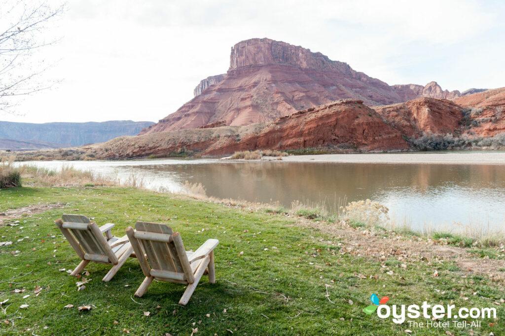 Vue de la rivière Colorado de Sorrel River Ranch Resort dans l'Utah