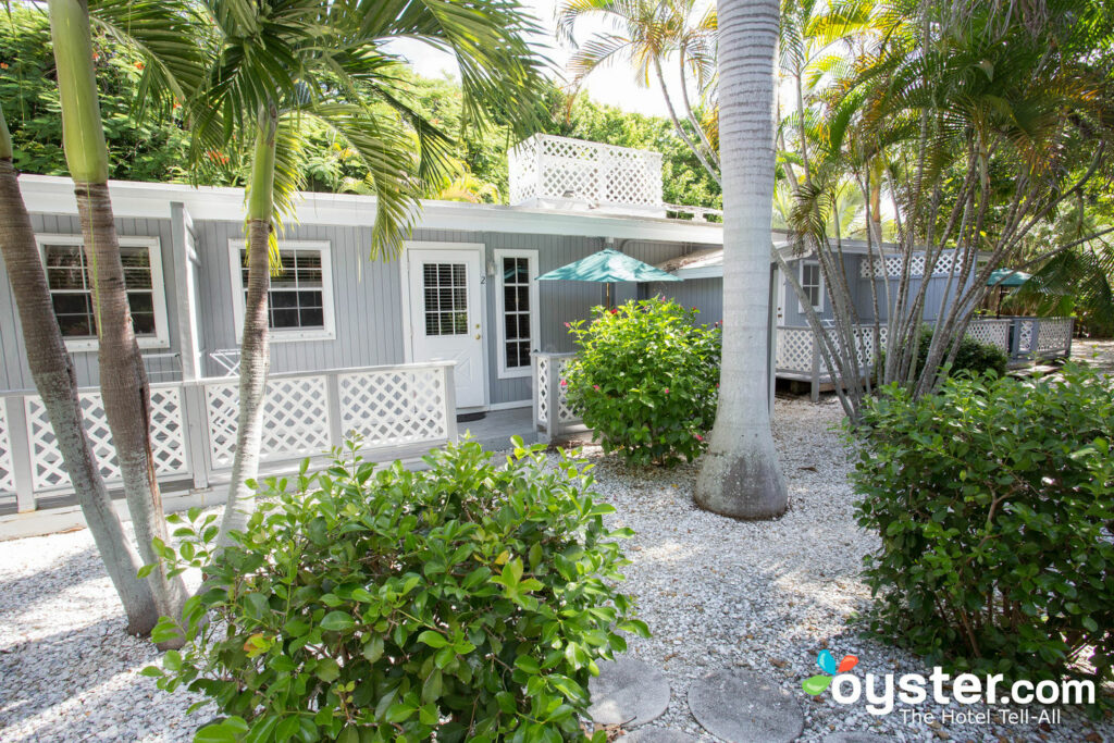 Cottages at this Sanibel Island resort are surrounded by tropical gardens.