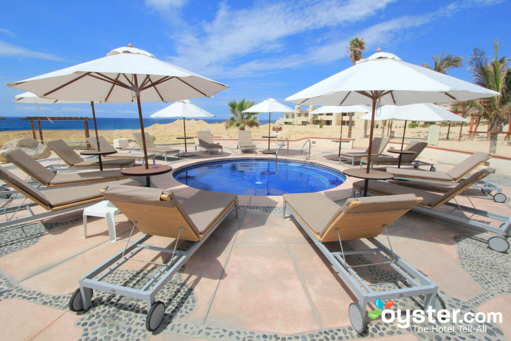 View from the beachfront hot tub at the Solmar Resort All Inclusive in Los Cabos.