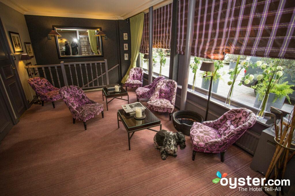 Lobby at the Hotel du Champ de Mars
