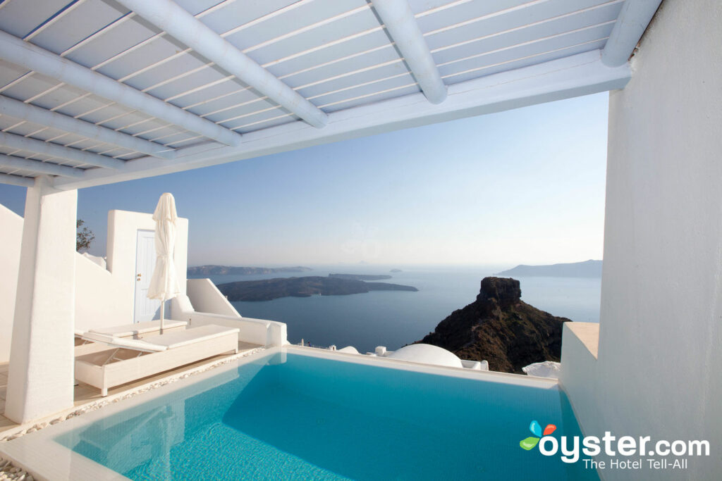 View from the Pool Suite at Astra Suites in Santorini, Greece