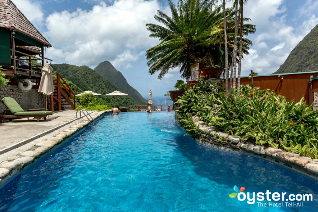 Pool at Ladera Resort, St. Lucia/Oyster