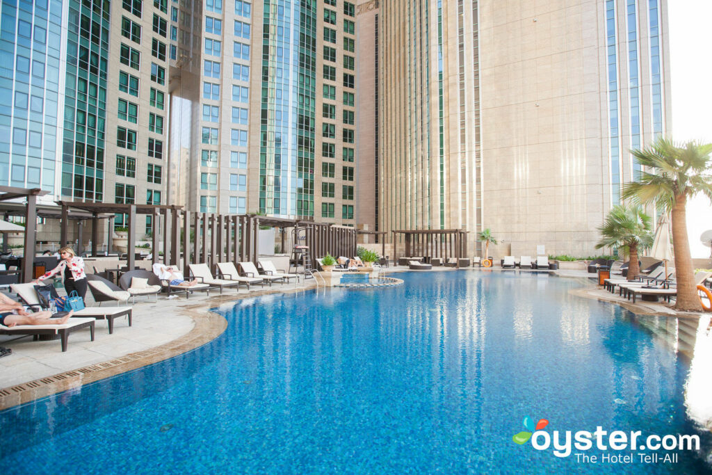 The pool at the Sofitel Abu Dhabi Corniche.