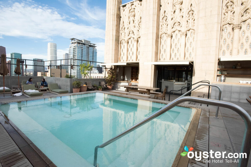 The most popular outdoor space, though, is definitely the rooftop pool.