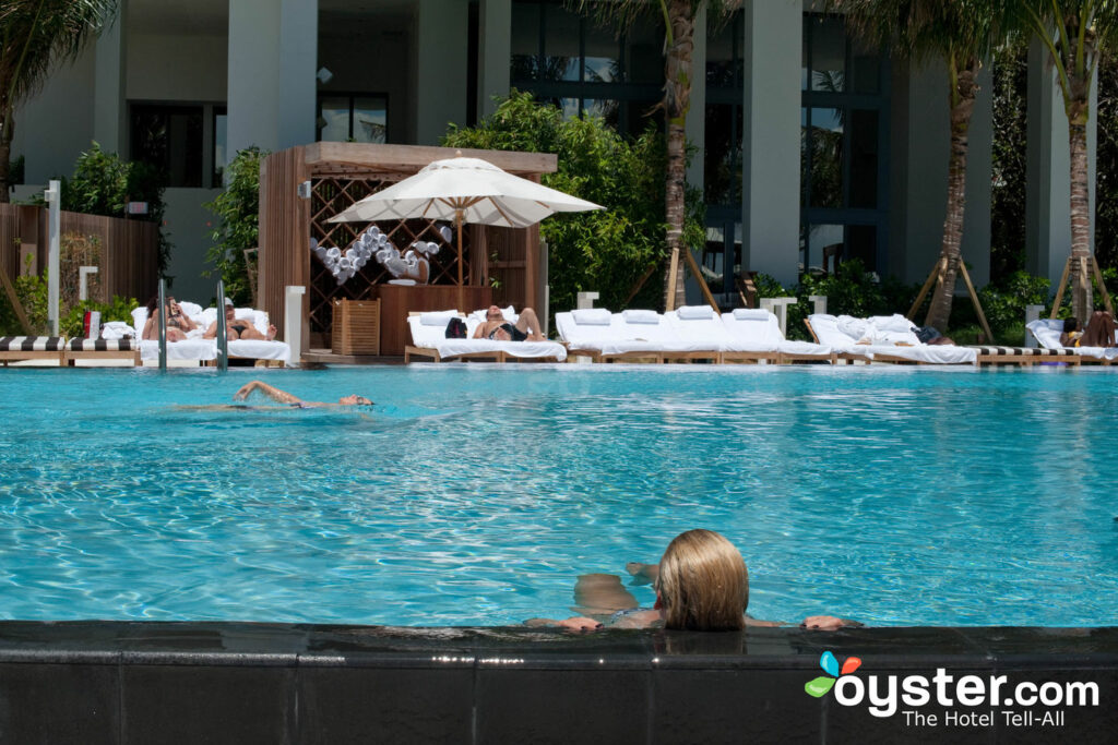Guests relaxing at the pool at the W South Beach.