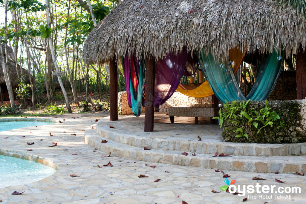 The rustic Natura Cabanas resort has a whimsical vibe throughout.