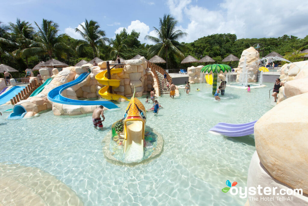 The water park at Sandos Caracol Eco Resort