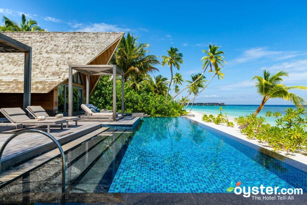 A, dois quartos, praia, vila, em, a, st. Regis, maldives, Vommuli, recurso