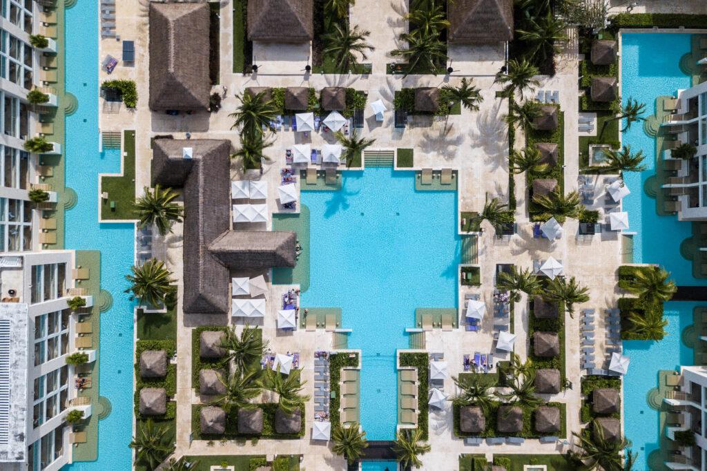 Aerial Photography at the Paradisus Playa del Carmen La Perla