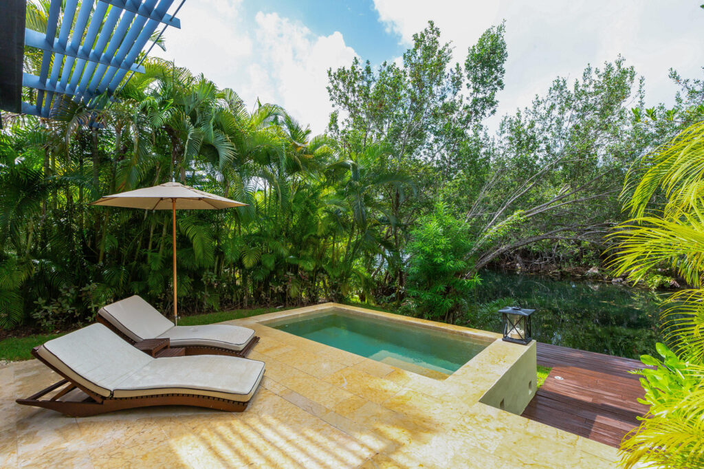 The Deluxe Over The Water Lagoon Suite at the Rosewood Mayakoba