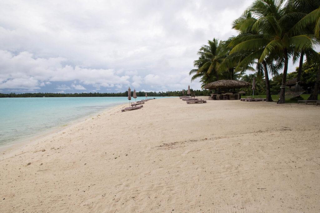 The beach at the St. Regis Bora Bora