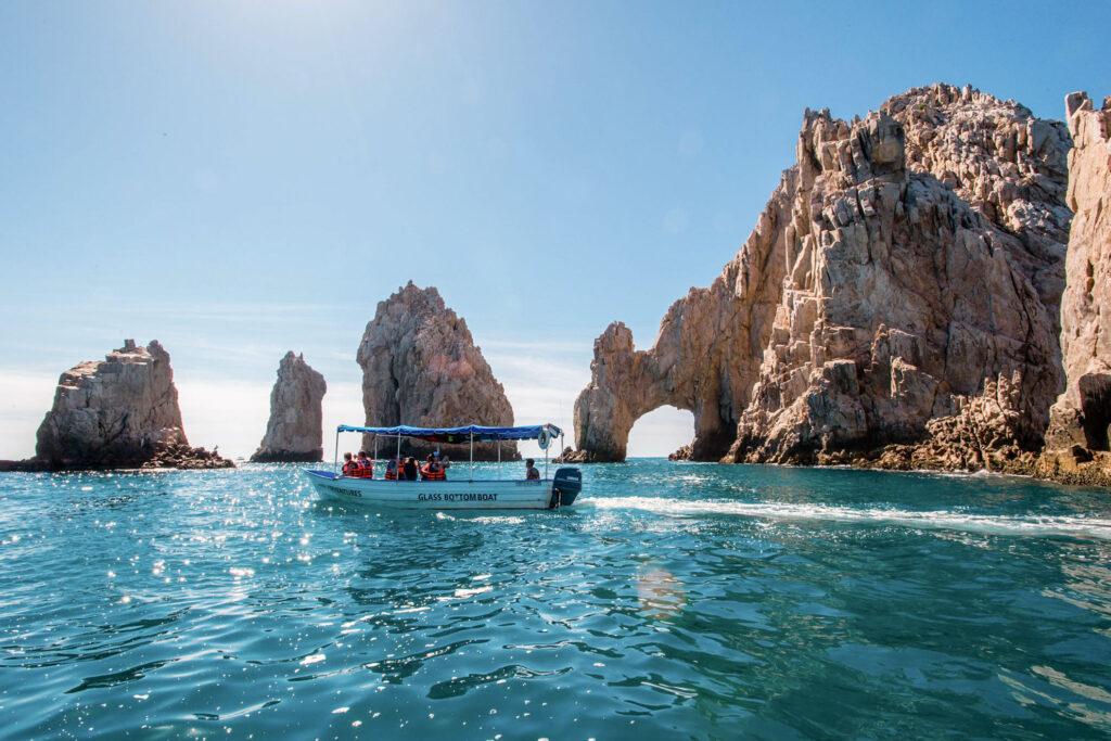 Boat in the ocean in Cabo San Lucas