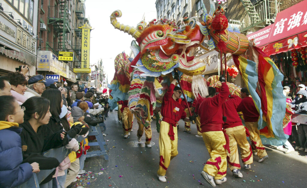 Dragon in Chinatown NYC Lunar New Year