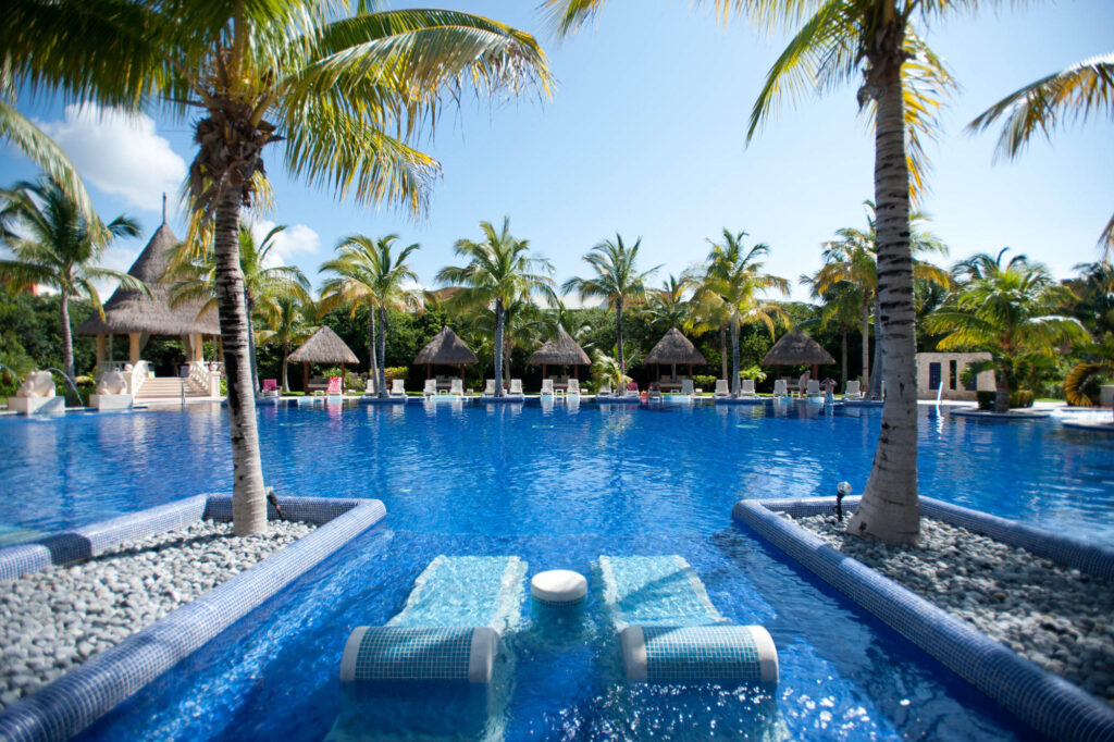 The Adults-Only Pool at the Barcelo Maya Palace