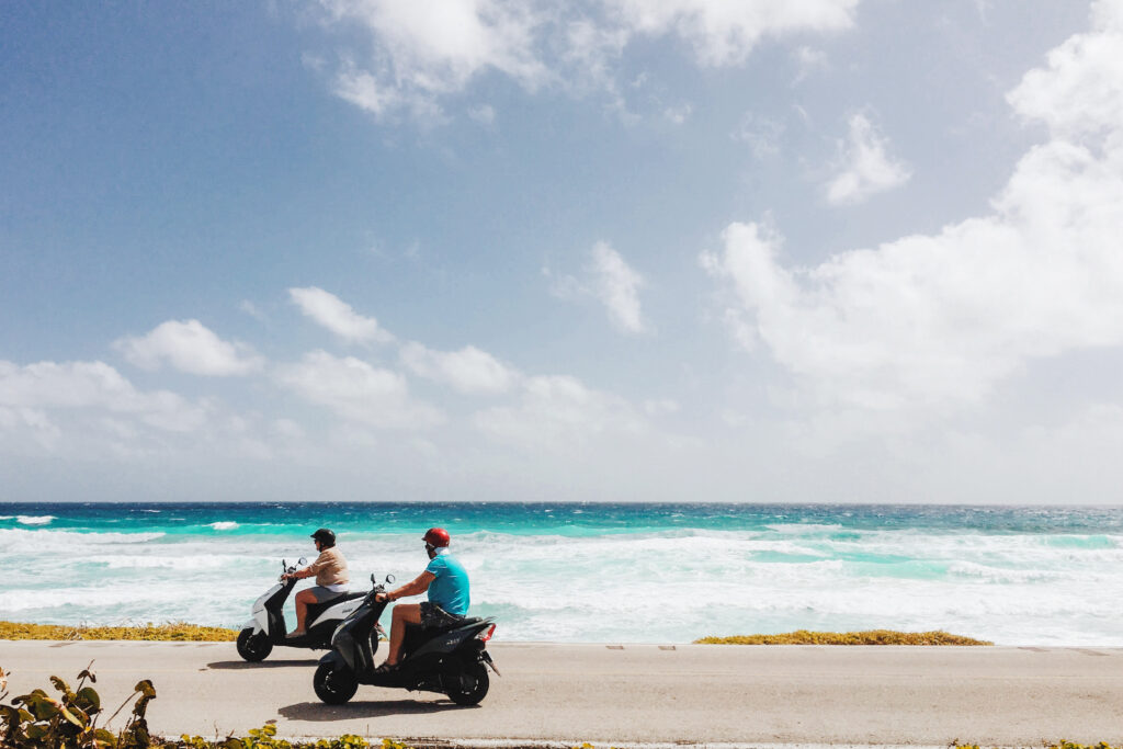 Cozumel road and ocean