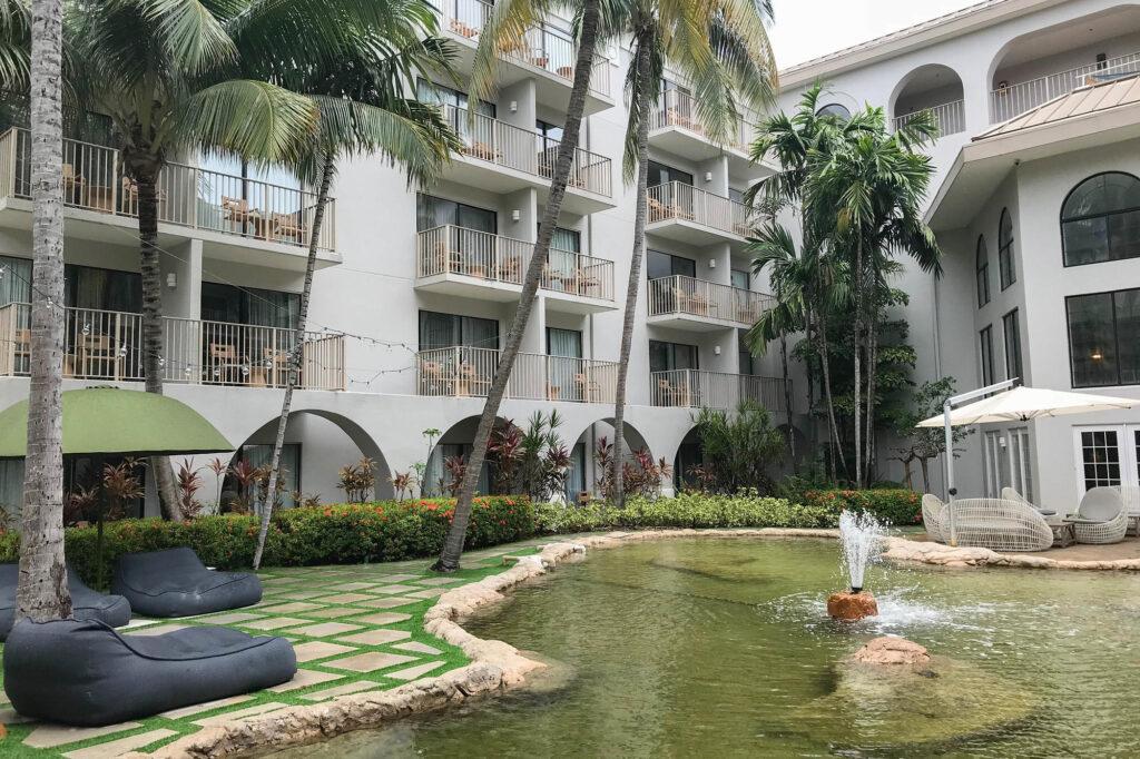 Grounds at the Grand Cayman Marriott Beach Resort