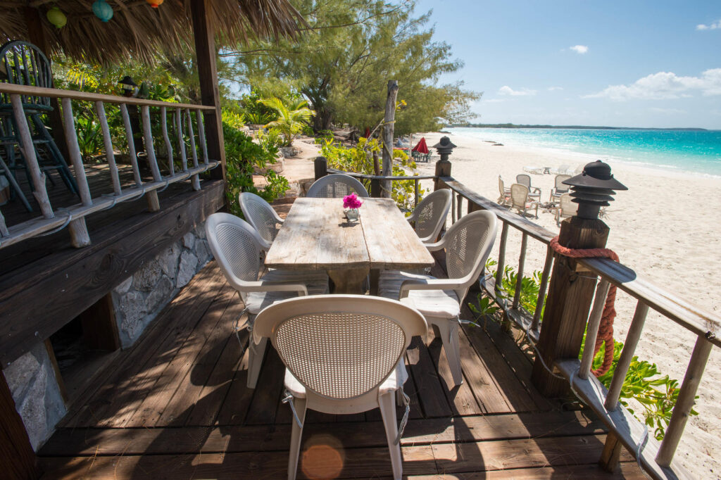 Beach Bar at the Pigeon Cay Beach Club