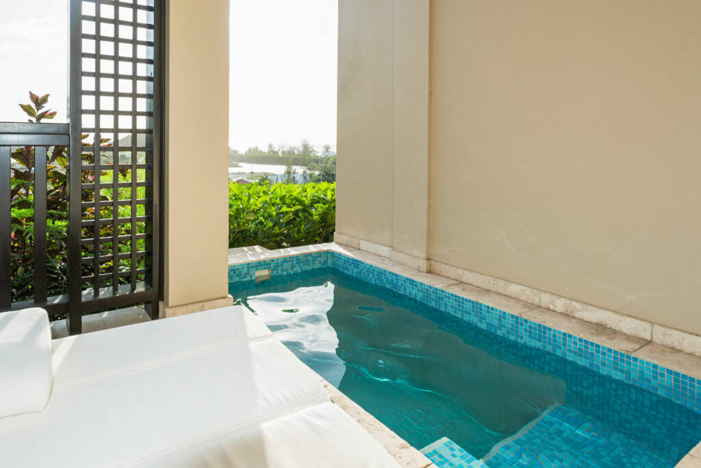 Private pool at Sugar Ridge Resort