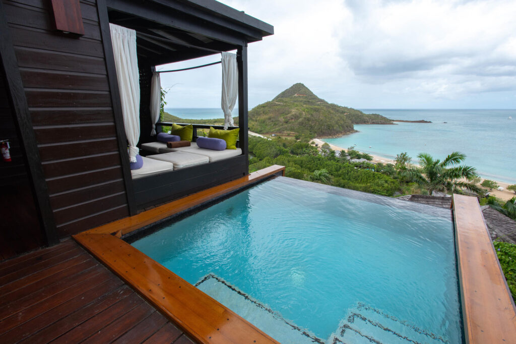 The Hillside Pool Suite at the Hermitage Bay