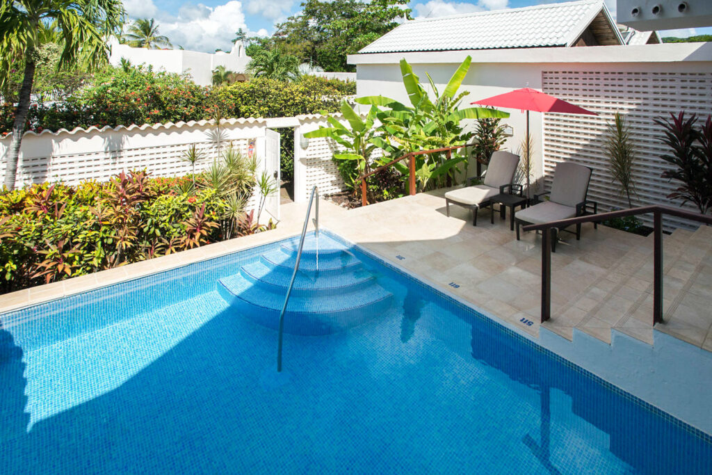 The Luxury Almond Pool Suite at the Spice Island Beach Resort