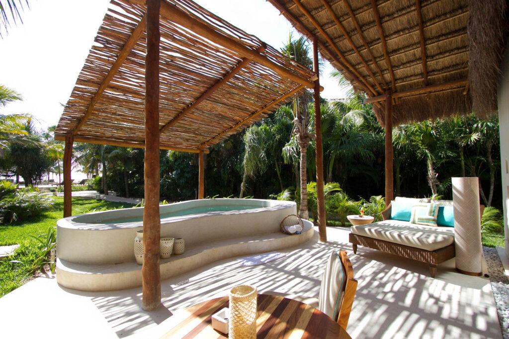 Terrace at The Ocean View Villa at the Viceroy Riviera Maya