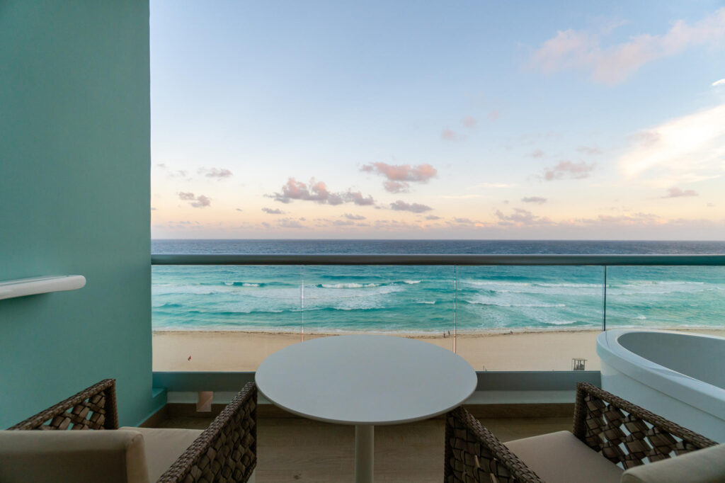 Sunset view from the Double Room at the Iberostar Cancun Star Prestige
