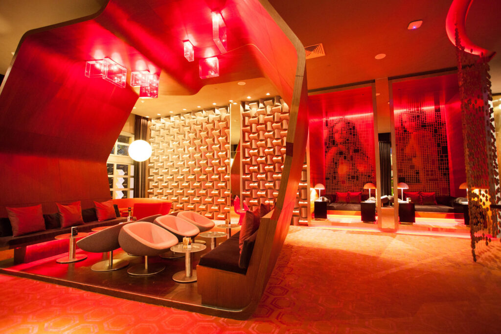 Red Lounge at the Paradisus Playa del Carmen La Perla