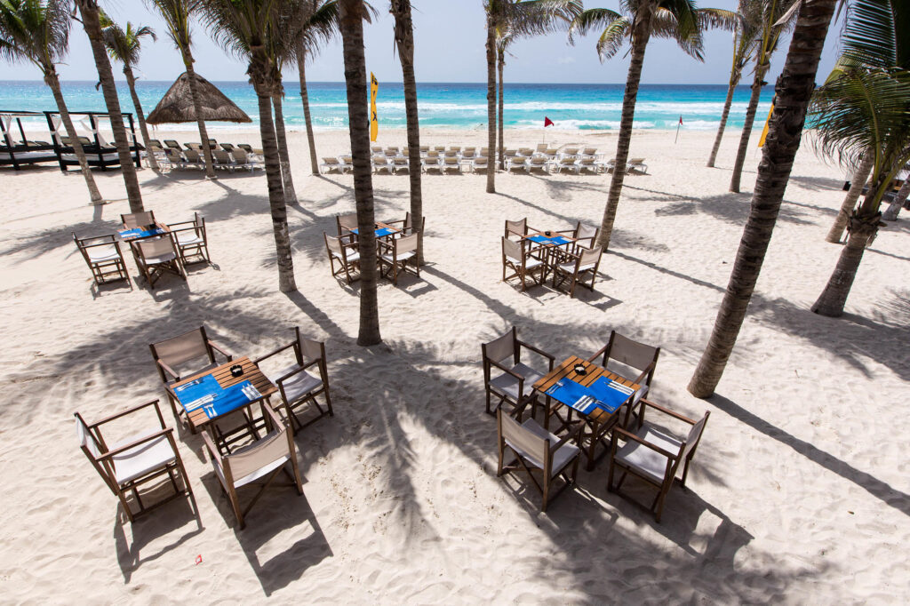 Restaurant Deck at the NYX Hotel Cancun
